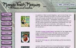 Maryjo Faith Morgan, Freelance Writer